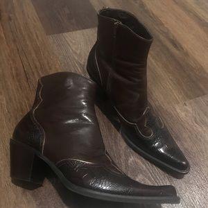 Lowdown Brown Franco Sarto Western Boots